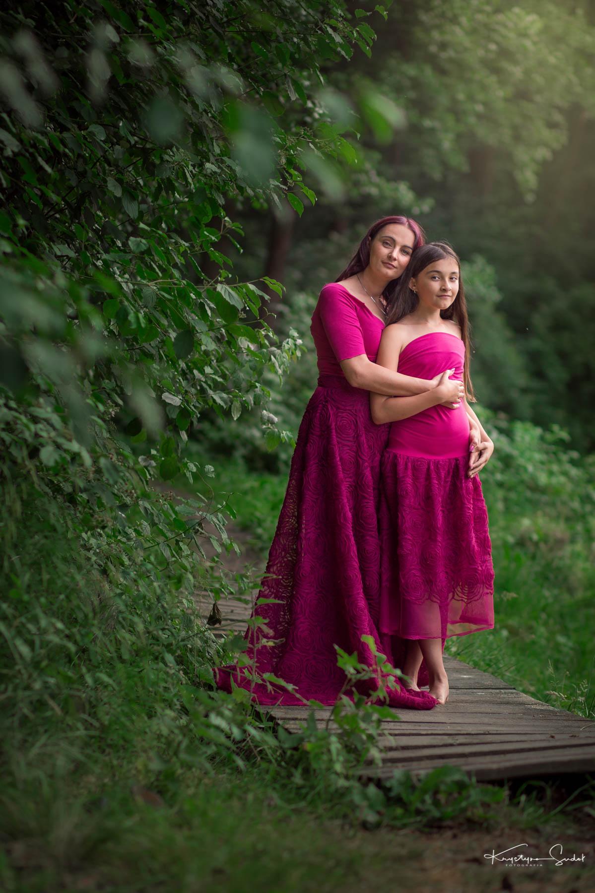 Sesja mamy i córki w Wieliczce