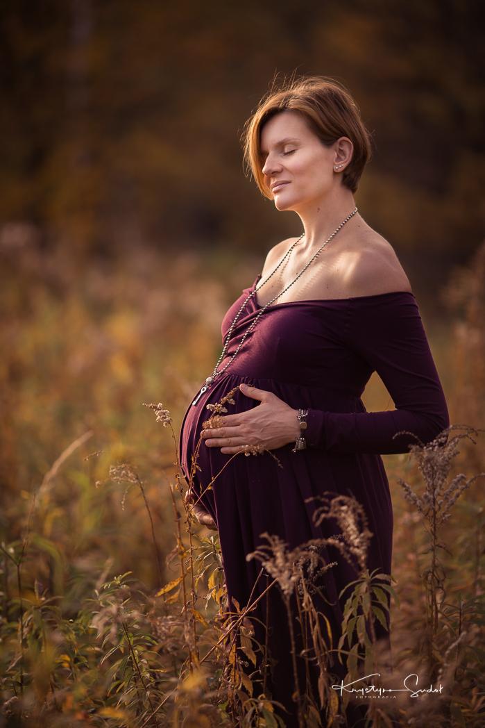 sesja ciążowa plenerowa Wieliczka