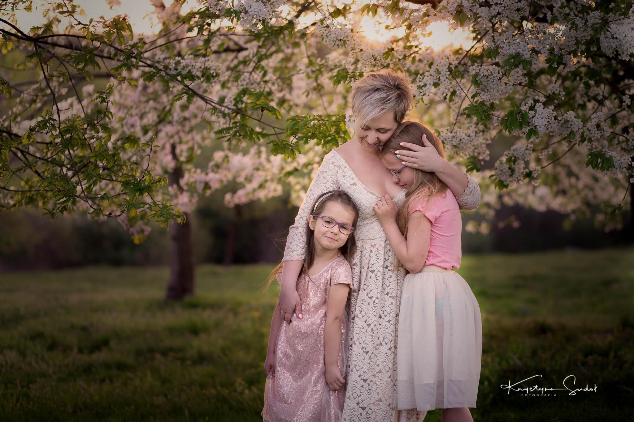 sesja z córkami w plenerze
