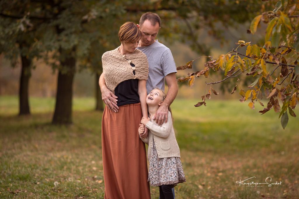 jesienna sesja rodzinna Wieliczka